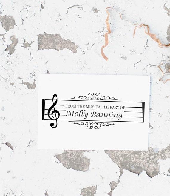 Music Stamp Music Teacher Stamp Sheet Music Stamp Musical
