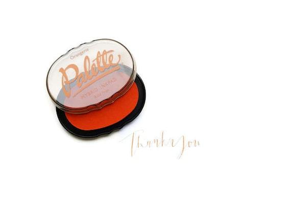 Orange Stamp Pad Tangerine Ink Rubber