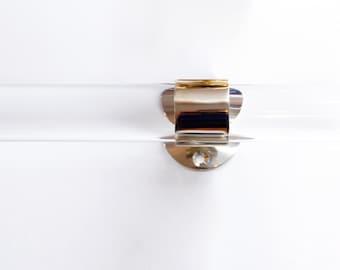 """2"""" DIA (73""""  - 142"""") Custom Lucite Curtain Rod  w/ 3 qty Brass or Satin Brass Brackets"""
