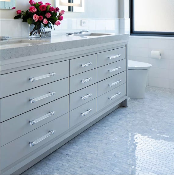 3/4 DIA Polished Nickel or Chrome Drawer Pull