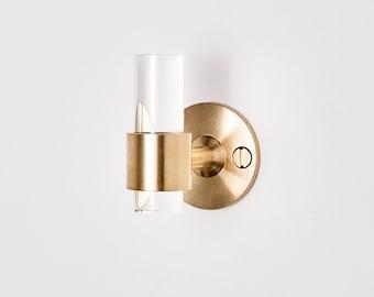 Lucite Robe Hook (Polished Brass & Satin Brass) - Towel Hook - Wall Hook - Wall Hook Modern - Hooks - Bathroom Hooks - Lucite - LuxHoldups