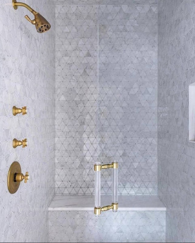 Lucite Shower Door Handles Polished Brass Satin Brass | Etsy
