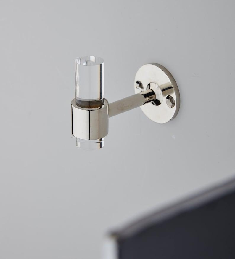 Lucite Robe Hook (NICKEL Or CHROME) / Towel Hook / Wall Hook / Wall Hook  Modern / Hooks / Bathroom Hooks / Lucite / LuxHoldups