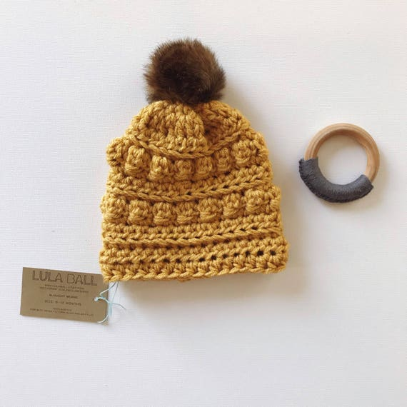 1fbe56106441d Slouchy Beanie for Baby    Sungold    Size 6-12 Months