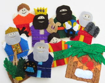 Sukkot Finger Puppets Jewish Feast of Booths Sukkah Lulav Seven Torah Guests