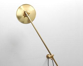 Wall Lamp - Adjustable Lamp - Extension Lamp - Boom Lamp - Bedside Lamp - Sconce  - Articulating Industrial Brass Scissor Lamp Light - SB3
