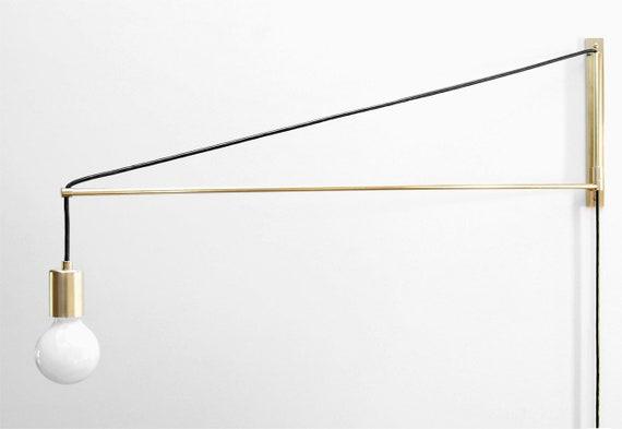 Moderna in ottone swing braccio applique due tre o quattro etsy