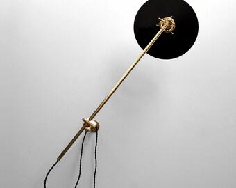 Wall Lamp - Adjustable Lamp - Bedside Lamp - Extension Lamp - Boom Lamp - Sconce - Articulating Industrial Brass Scissor Lamp Light - SB4