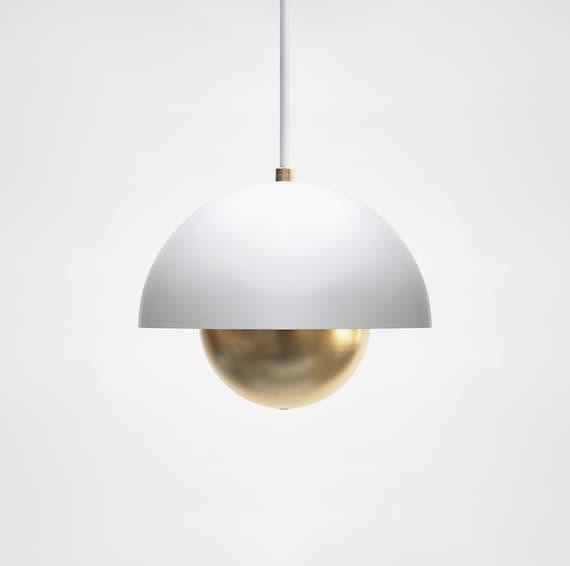 Modern Pendant Light Mid Century Pendant Light Minimal Pendant Lamp Brass Pendant Light Roswell