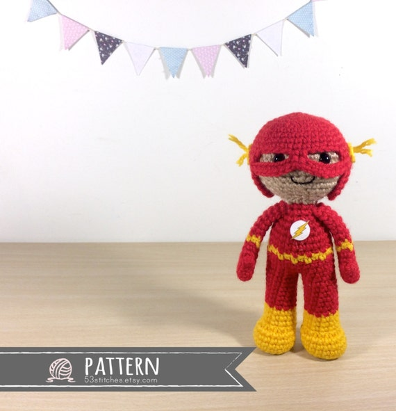 The Flash Amigurumi Crochet Doll Pattern | Etsy