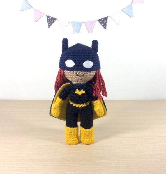 Batgirl Barbara Gordon Amigurumi Haak Pluche Pop Etsy