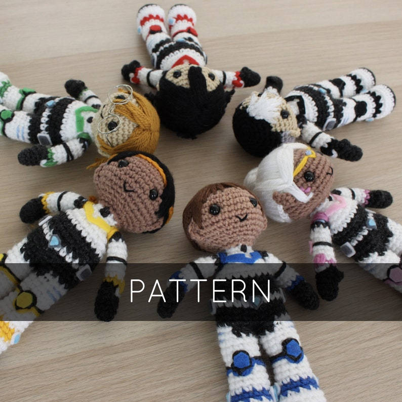 Collection of Voltron Paladin Amigurumi Crochet Patterns image 0