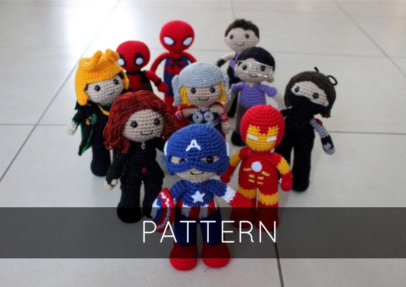 Collection of Marvel Amigurumi Patterns image 0