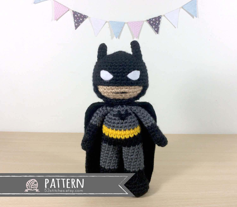 Batman Amigurumi Crochet Doll Pattern Etsy