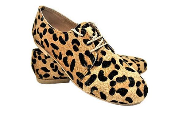 leopard oxfords womens
