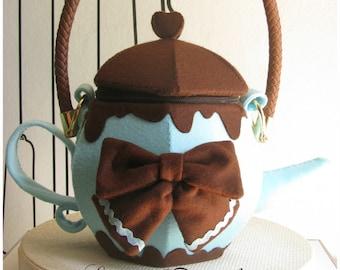 Teapot handbag Feltbag lolita fashion -  Mint chocolate flavour.