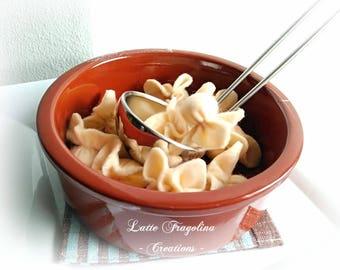 Fagottini pasta, felt food toy,Italian cuisine,children,felt food