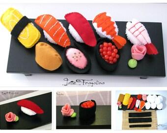 How to make sushi - felt food, Pretend sushi toy, Nigiri zushi set