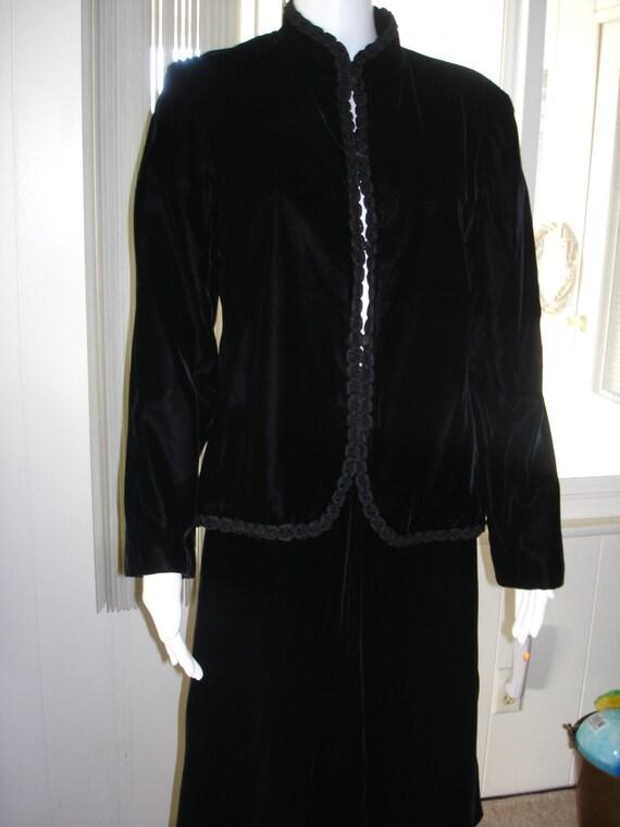 vintage black Velvet suit