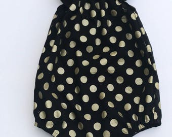 Black with Gold Spots Romper Playsuit - size 3