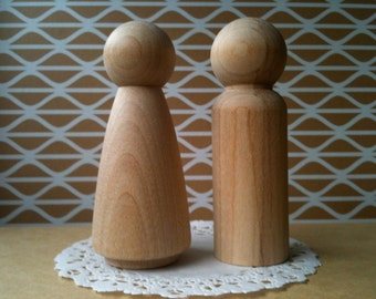 Craft Art Projects Natural Unpainted Decorative Wood Shapes Figures for Painting ZHIHU 20 Pack Unfinished Wooden Peg Nesting Dolls People Bodies Peg Game
