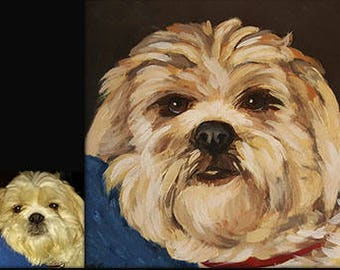 Custom Pet Portraits Including Dog and Cat Paintings
