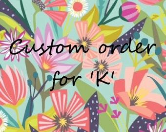 Custom order for 'K' ~ reserved