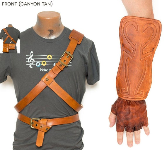 Legend of Zelda Link Leather Belts Bracer Bags /& Gloves Twilight Princess