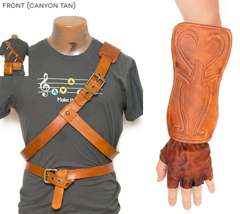 Legend of Zelda Cosplay Link Leather Belts Bracer Bags    d38e9a8023a8b