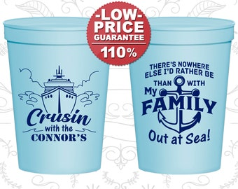 Family Beach Trip Family Vacation Gifts Tropical Vacation Cups Beach Please Family Vacation Plastic Cups Vacation Favors 180006