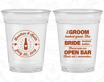 that all I remember The Bride Looked Better There was an Open Bar 253 Foam Cups Customized Styrofoam Cups The Groom Looked Good