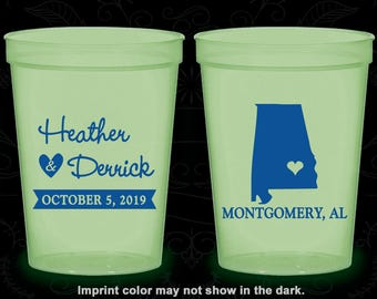 Alabama Wedding, Glow in the Dark Cups, Destination Wedding, State Wedding, Glow in the Dark (100)