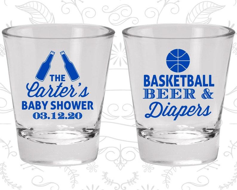 Baby Shower Shot Glasses 90133 Basketball Baby Shower Basketball Beer and Diapers Baby Shower Glassware
