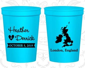 England Wedding Cups, England Wedding, Wedding Favor Beer Cups, Destination Wedding, Wedding Cups, London Cups (199)
