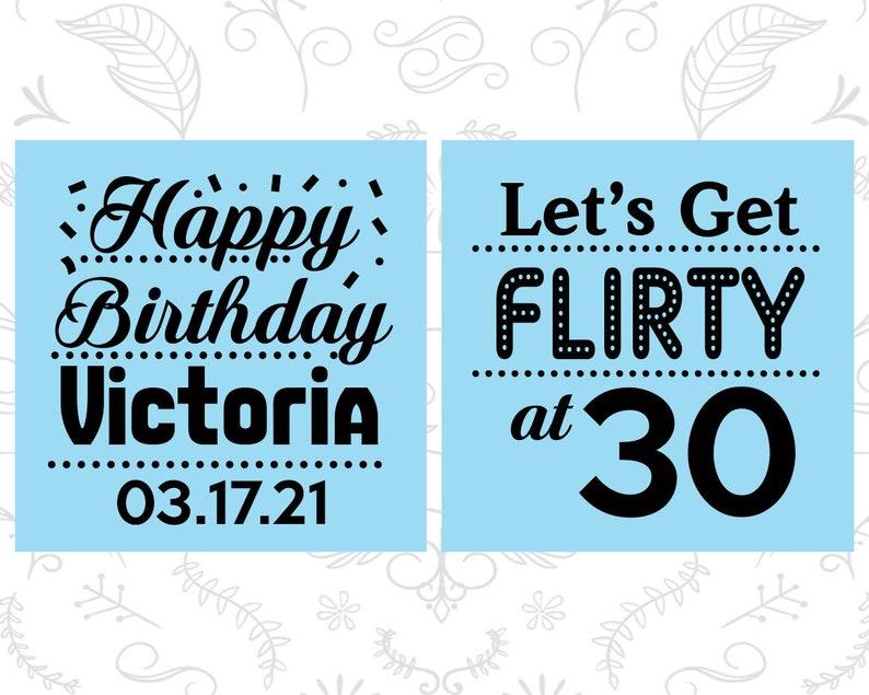 Birthday Tall Shot Glasses Flirty and 30 Flirty and Thirty Happy Birthday 20015 30th Birthday Shooter Glasses
