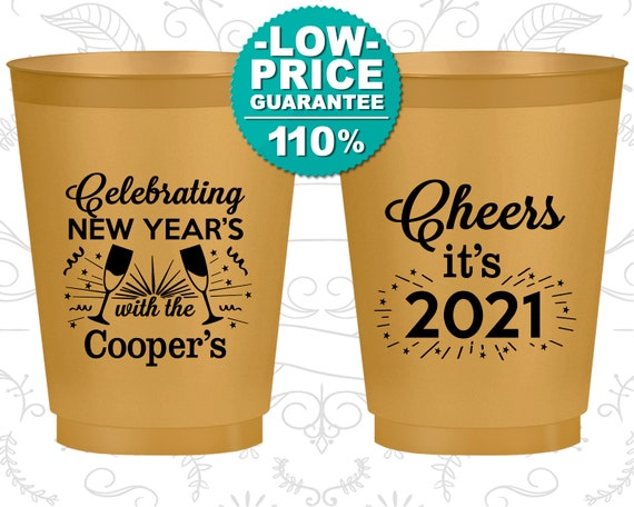 New Years Frosted Cups New Years Eve Party Favors Nye Party 2021 Cheers New Years 170024 By My Wedding Store Catch My Party
