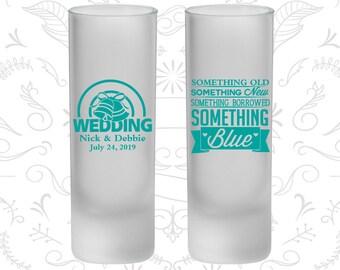 Something Old, Something New, Something Borrowed, Something Blue, Frosted Shooter Glass, Wedding Bells (466)