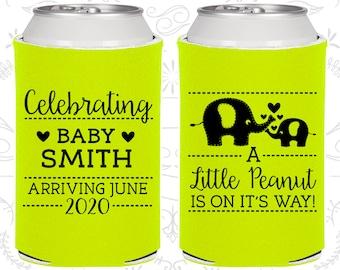 Little Peanut Baby Shower, Baby Shower Decorations, Elephant Baby Shower,Blue Baby Party,Baby Shower Can Coolers,Blue Baby Shower (90027)