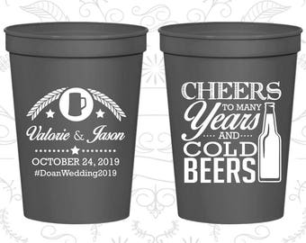 Charcoal Stadium Cups, Charcoal Cups, Charcoal Party Cups, Charcoal Wedding Cups (402)
