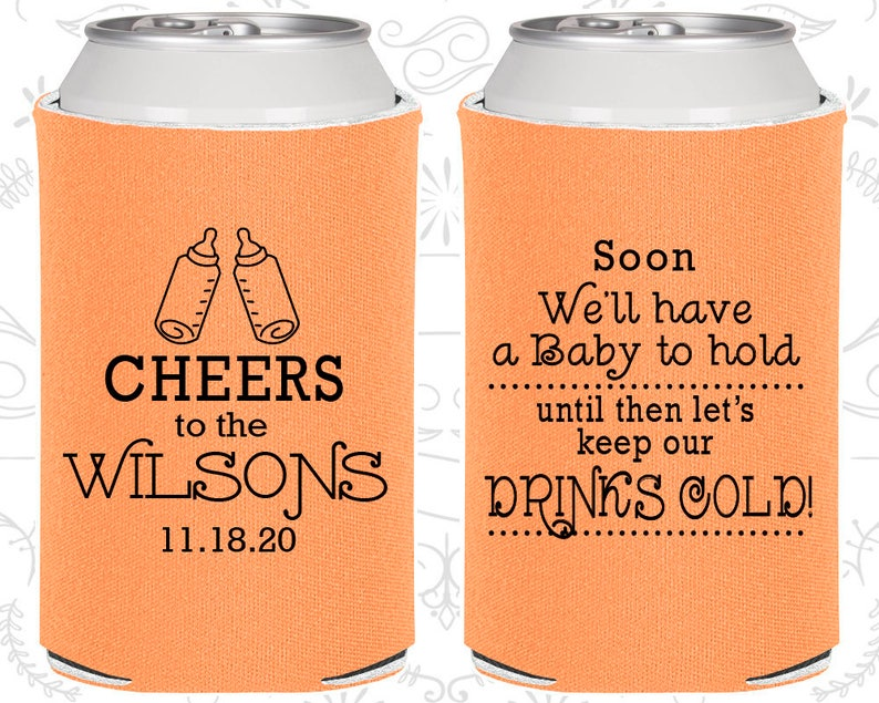 Cheers Baby Shower Favors Baby Shower Cooler C90031 Baby Shower Party Favors Baby Shower Decor Baby to Hold Keep our Drink Cold
