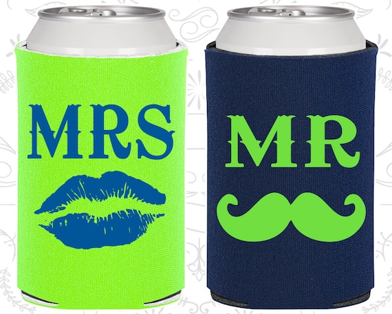 Mr And Mrs Can Cooler Mr And Mrs Gift Mr And Mrs Set Mr