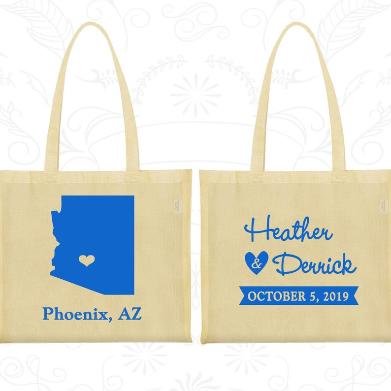 2fa6818588ba Arizona Wedding Arizona Tote Bags Custom Canvas Bags