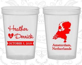 Netherlands Wedding Cups, Netherlands Wedding, Wedding  Beer Cups, Destination Wedding, Wedding Cups, Amsterdam Cups (197)