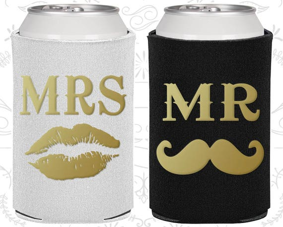 Mr And Mrs Gifts Wedding: Mr And Mrs Can Cooler, Mr And Mrs Gift, Mr And Mrs Set, Mr