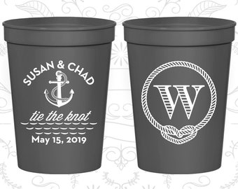 Charcoal Stadium Cups, Charcoal Cups, Charcoal Party Cups, Charcoal Wedding Cups (526)