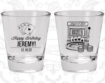 21st Birthday Shot Glasses, Personalized Birthday Shot Glass, Vegas Birthday, Legal at Last, Birthday Shot Glasses (20063)