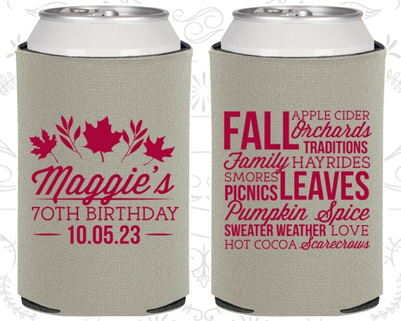 70th Birthday Favors Promotional Ideas Fall Leaves Party 20228