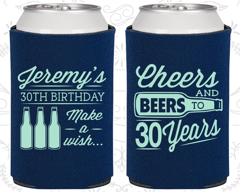 30th Birthday Presents - Can Coolers