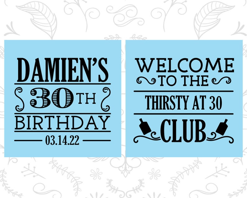 Birthday Shot Glass 20016 Thirsty and Thirty Birthday Glass 30th Birthday Shot Glass Thirsty and 30