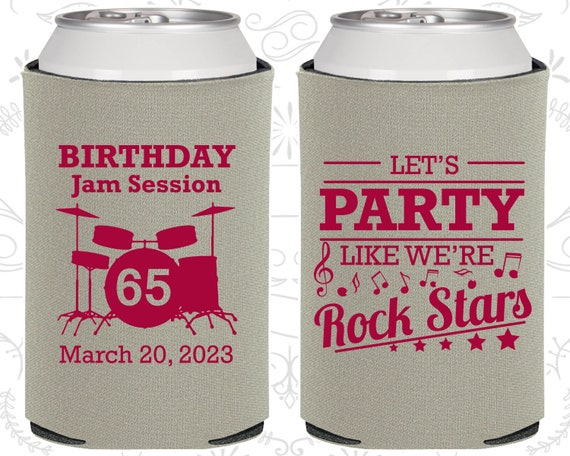65th Birthday Favors Imprinted Party Rock Star 20175